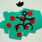 14-Pelouse-Rouge-1998-65x50cm-sur-papier