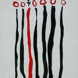 Vers à soi - 1986 - 65x50cm sur papier