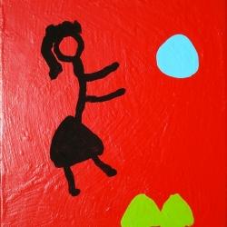 Pelouse Feu - 1998 - 35x27 cm