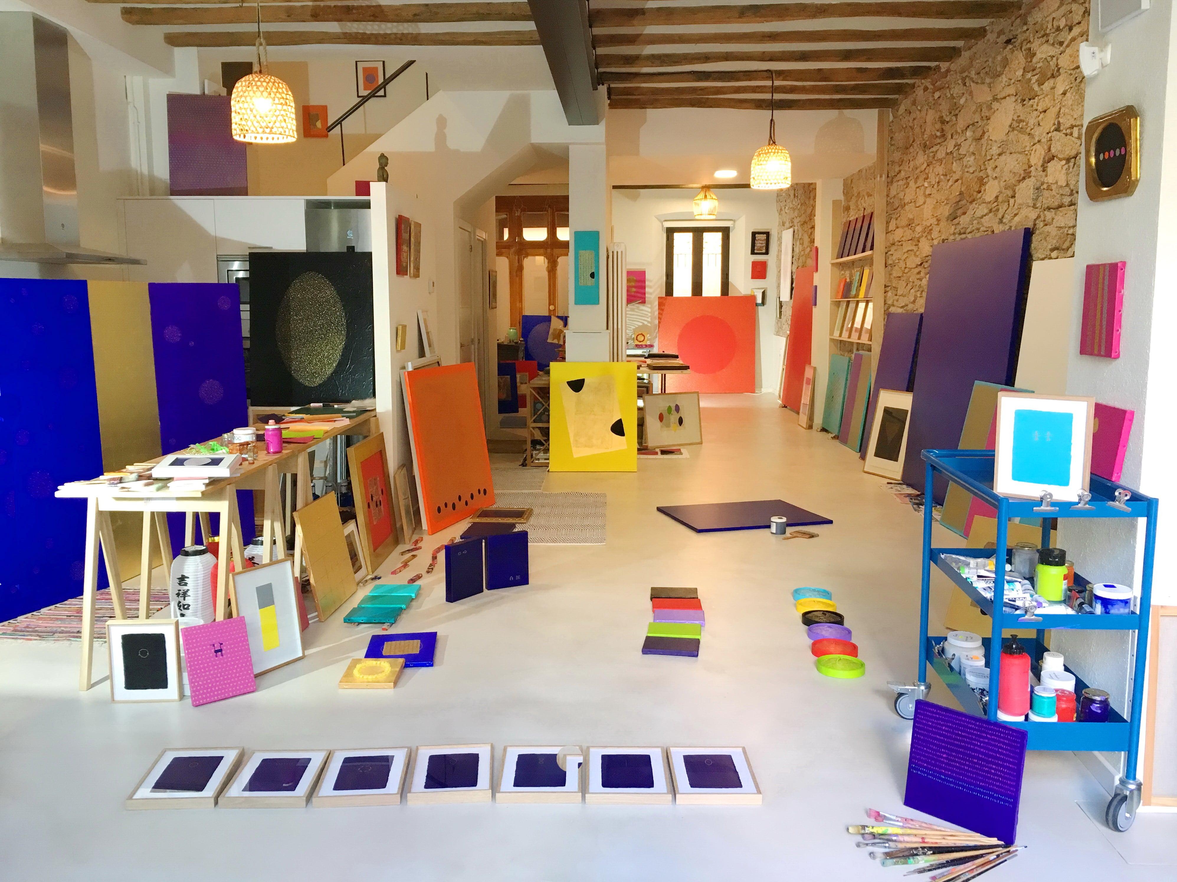 atelier de l'artiste peintre Del Aor en Espagne